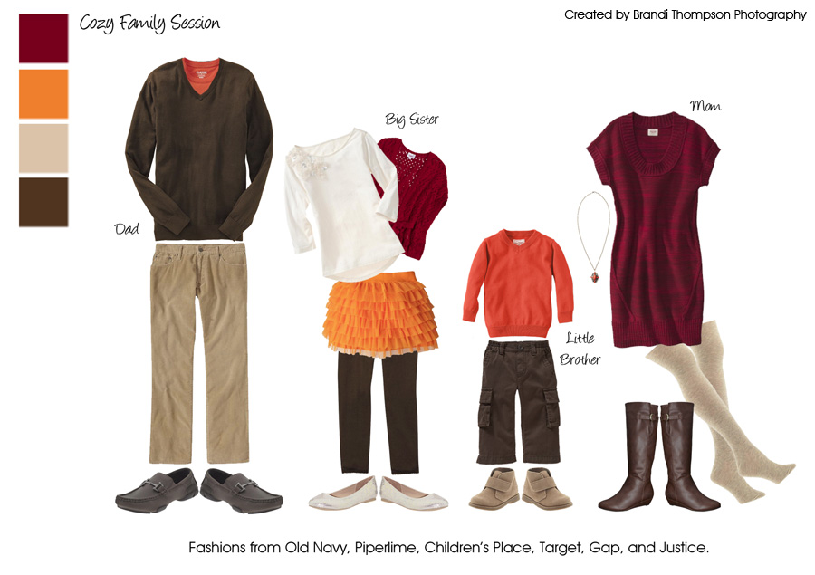 Fall Family Photos Clothing Ideas