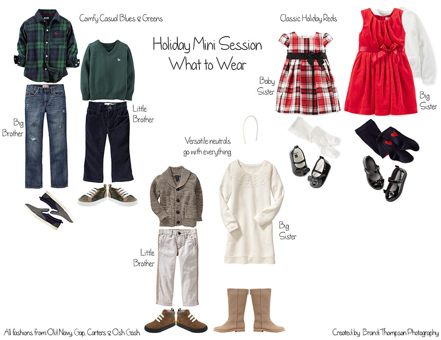 plano holiday mini sessions, what to wear holiday photography