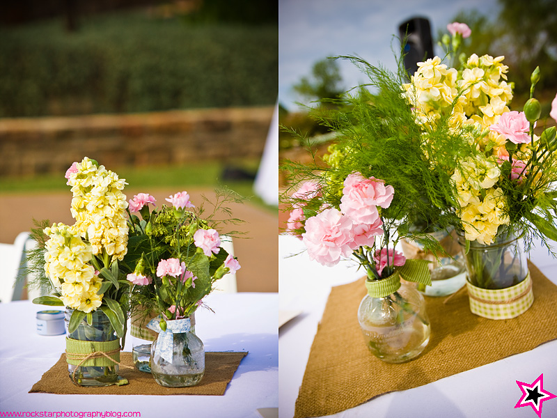 Horace holtman country wedding centerpieces