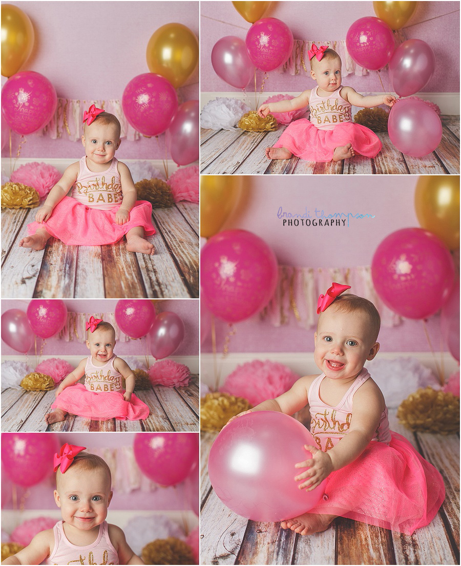 plano first birthday cake smash photography in studio