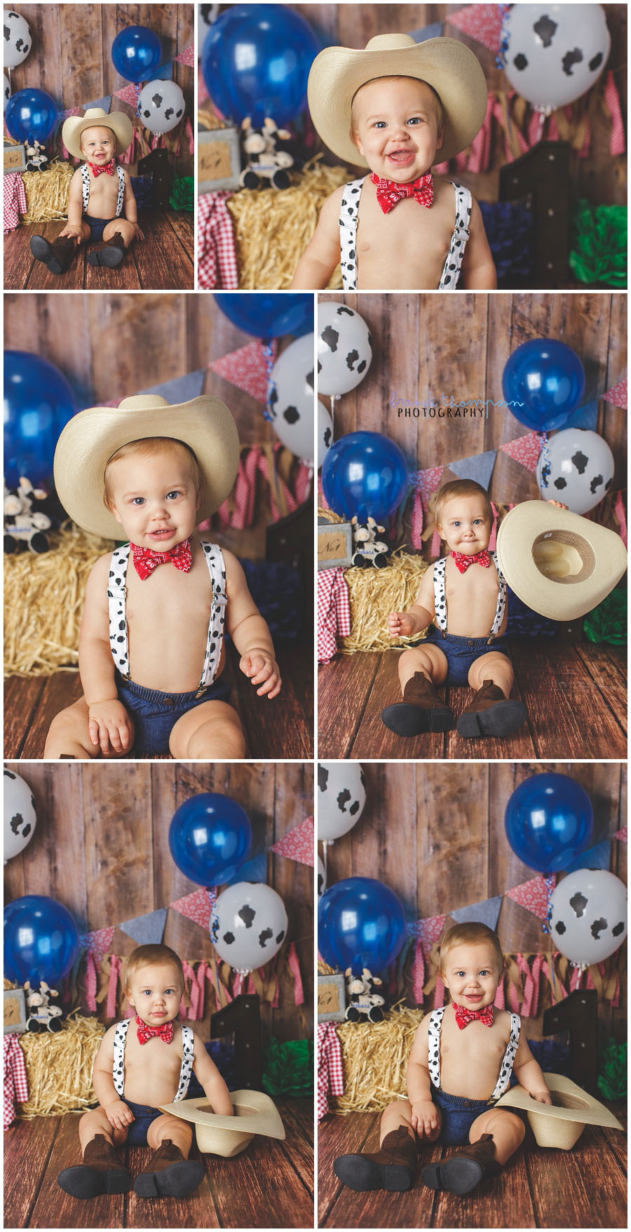 Mr Fs Cowboy Cake Smash Plano 1st Birthday Photography Brandi