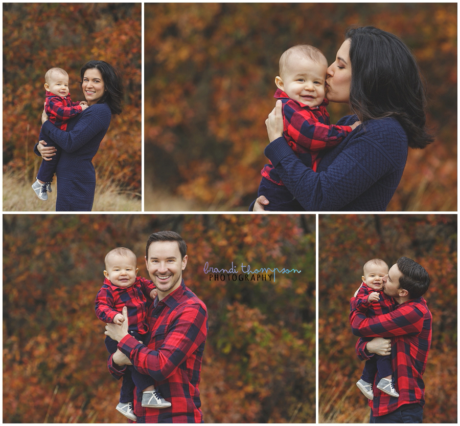 family photos at arbor hills in plano, tx with one year old