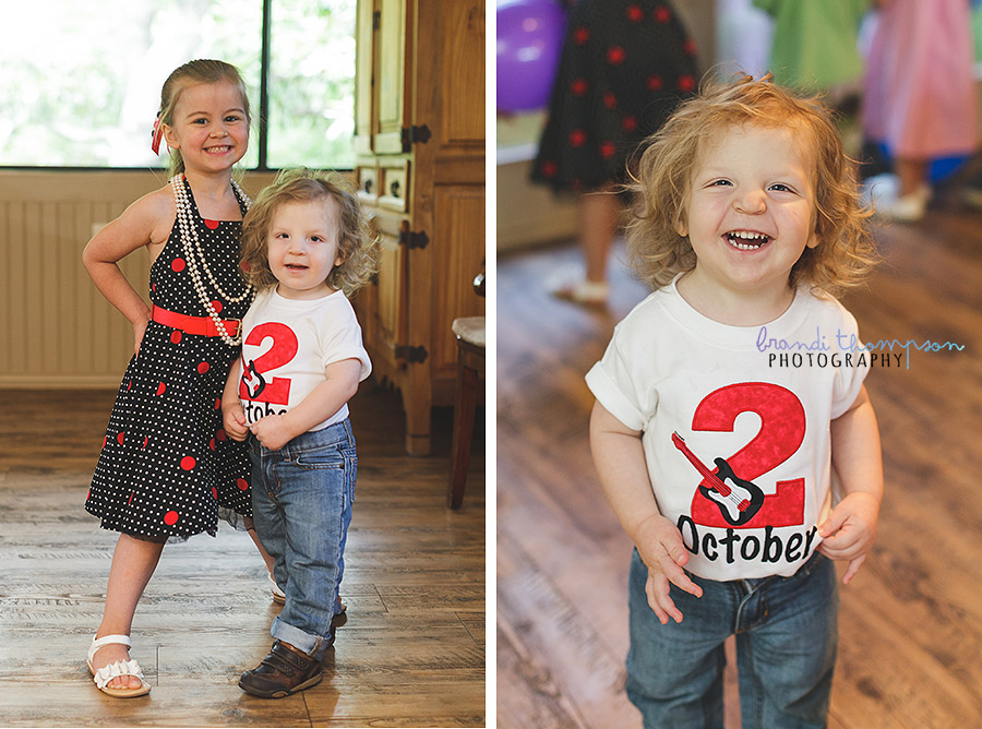 retro rock and roll birthday party, plano party photography