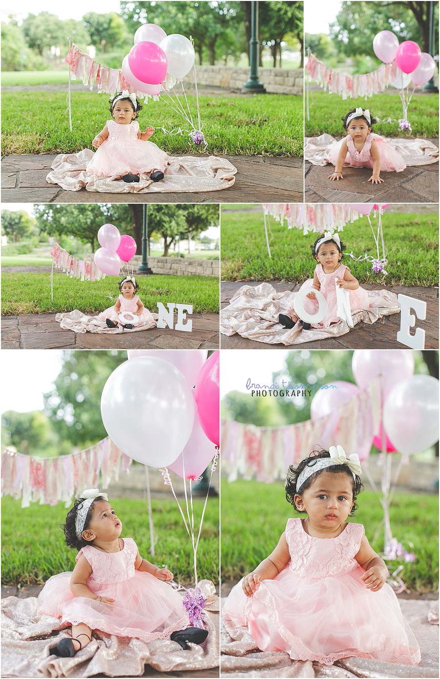 first birthday photos outdoors in Frisco