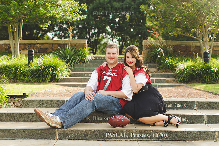 plano maternity photography, pregnancy reveal, razorbacks