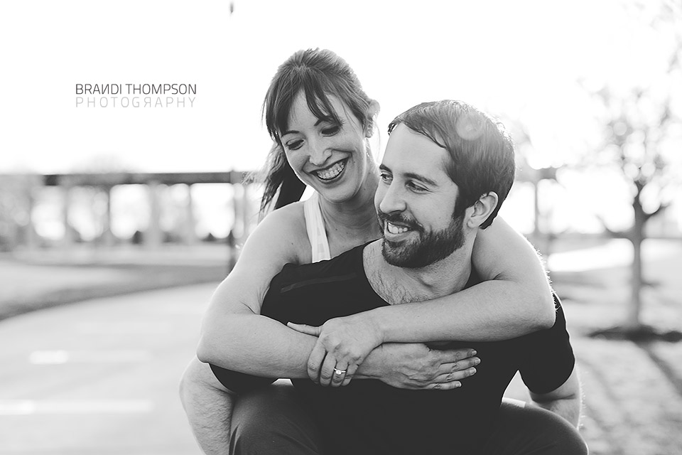 unique dallas engagement session