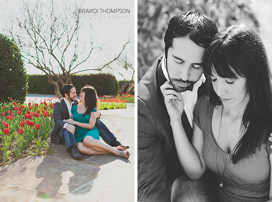 romantic addison engagement session