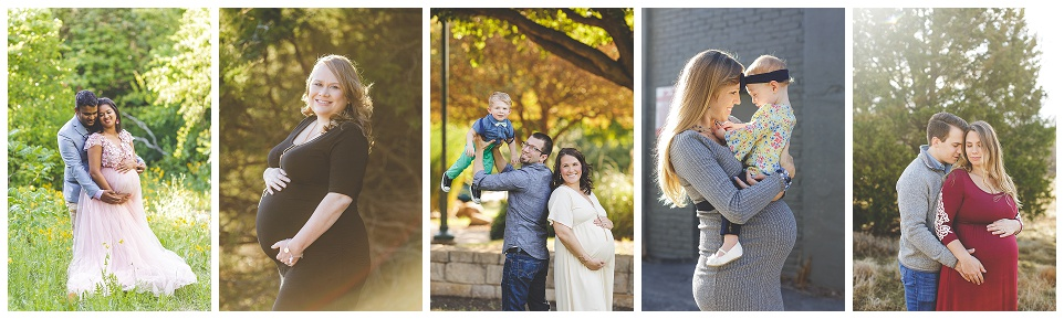 maternity session images, Pregnant couple, pregnant mother in black dress, pregnant couple with toddler son, pregnant mother with toddler daughter, pregnant couple in front of tree