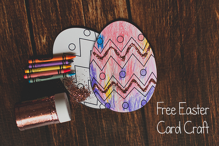 free easter card craft printable