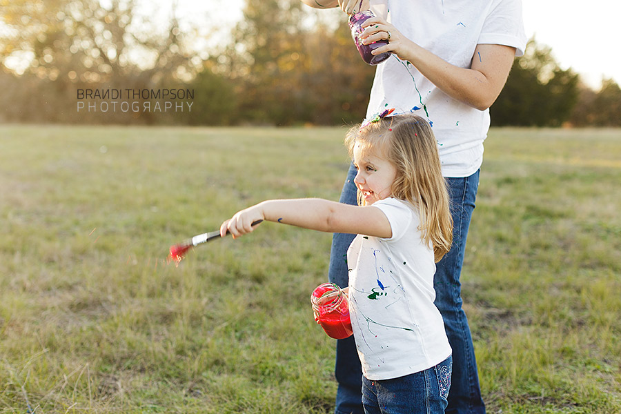 paint fight family photos