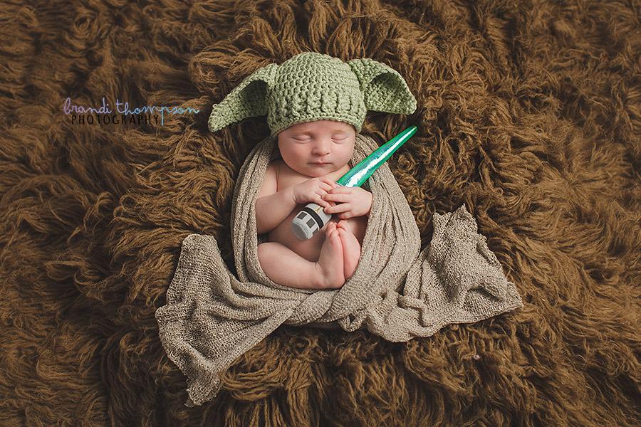 plano newborn photographer, star wars newborn