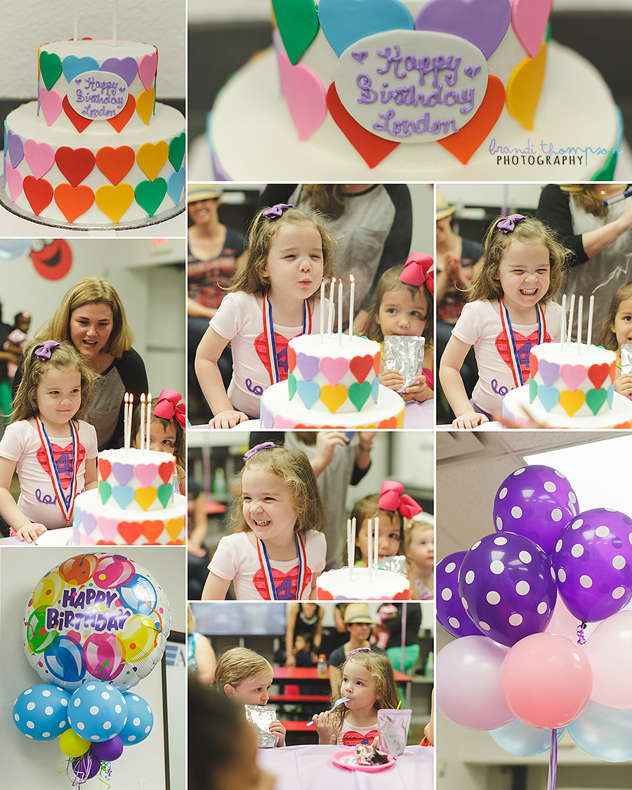 plano birthday party photography, asi gymnastics party