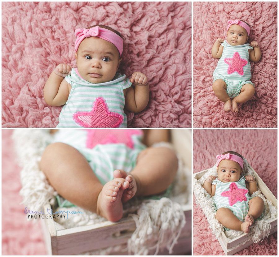 plano baby photographer, three month old milestone photos in a plano studio