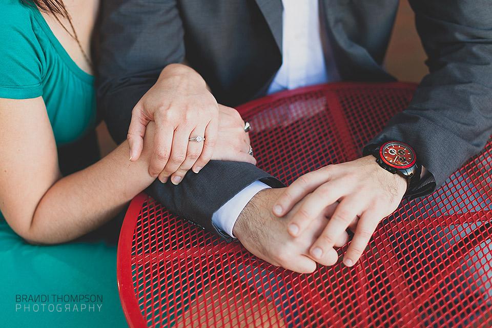 unique dallas engagement session