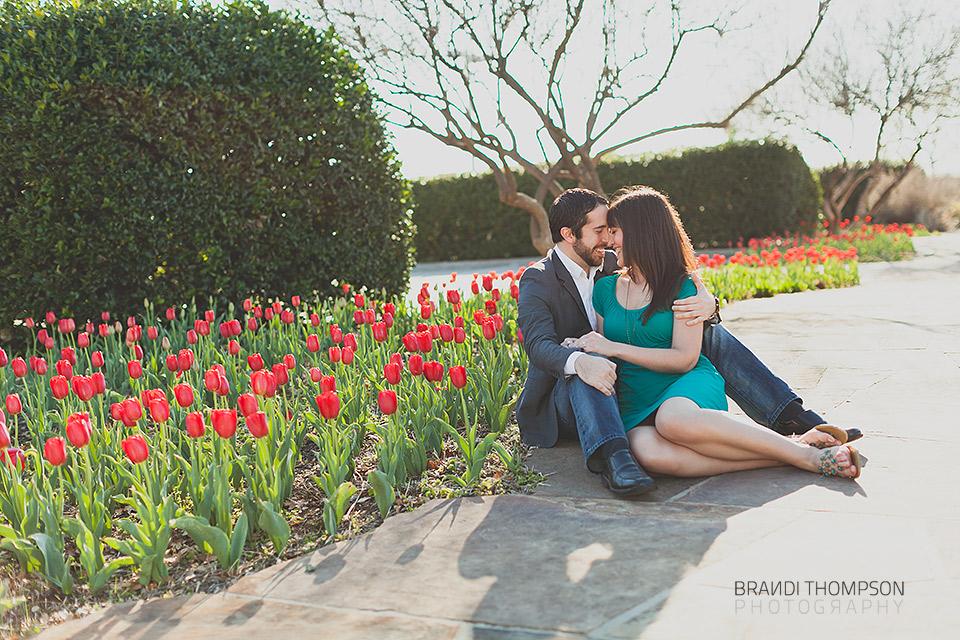 romantic addison engagement session