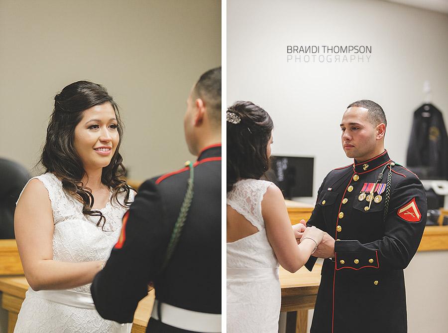 plano courthouse wedding, dallas military wedding