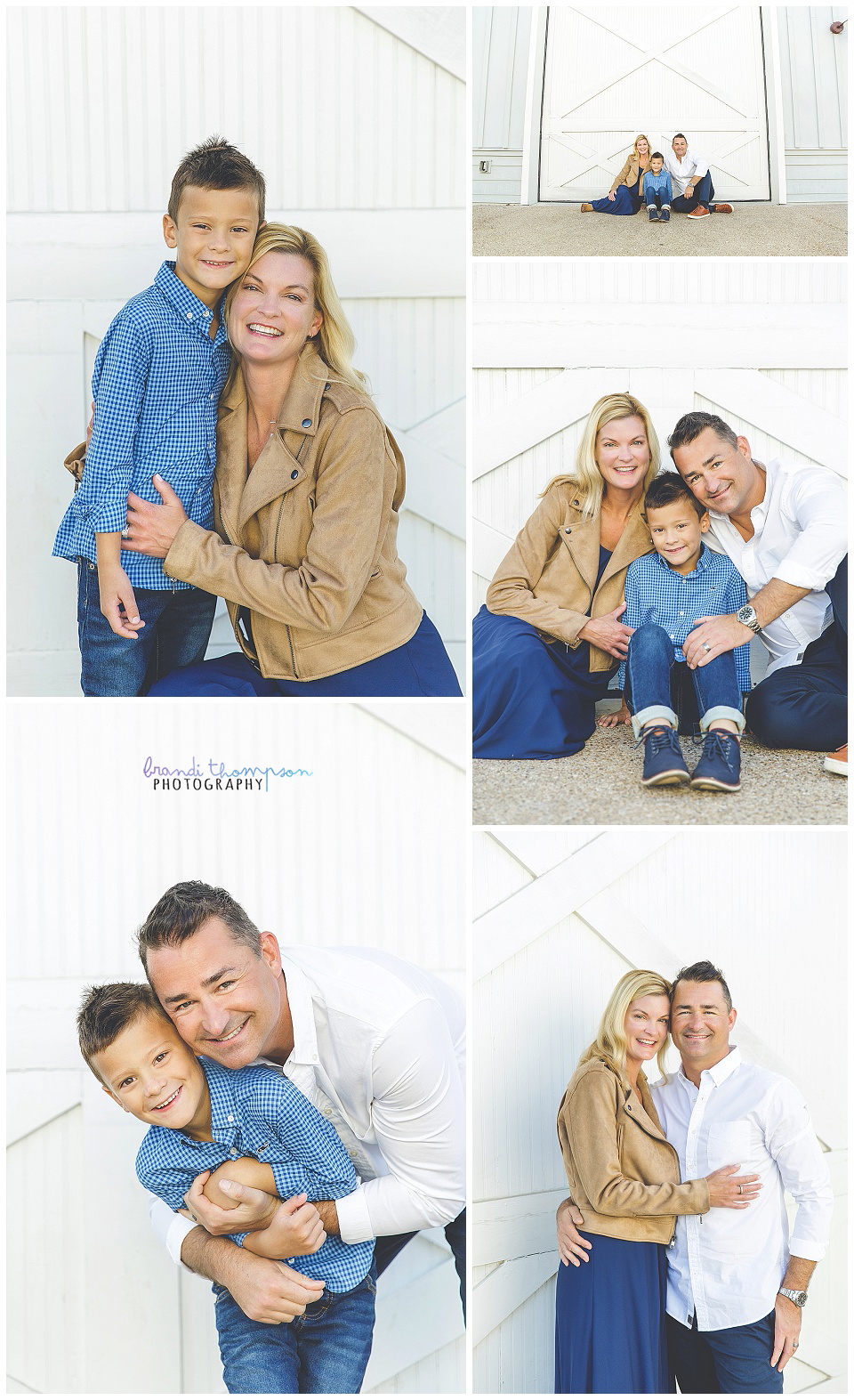 rustic family session in frisco, tx with dad, mom and school age boy