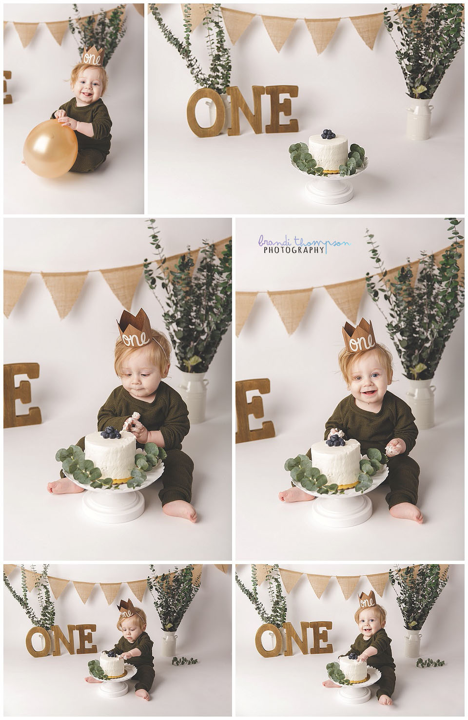 minimalist natural cake smash in plano, tx with blond baby boy